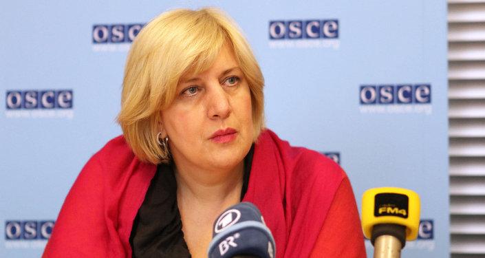 Dunja Mijatovic, representante de la OSCE para la libertad de prensa