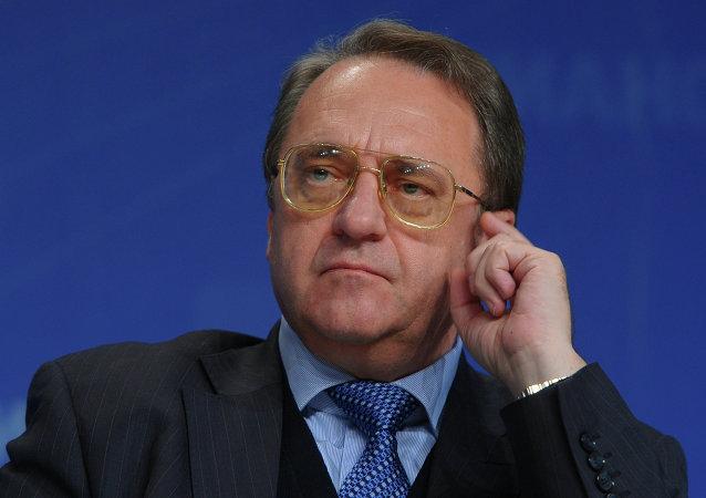 El viceministro de Exteriores ruso Mijaíl Bogdánov