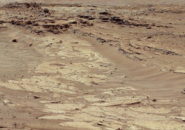 Imagen de la superficie del planeta Marte hecho por Curiosity