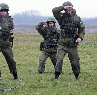Militares de la Flota del Báltico durante unos ejercicios (archivo)
