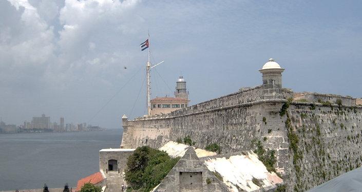 The fortress of El Morro in Havana, built in 1589.