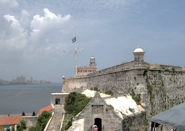 The fortress of El Morro in Havana, built in 1589.