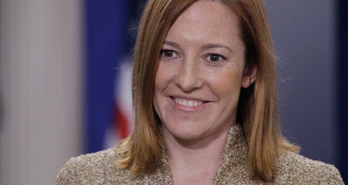 Jen Psaki, directora de comunicaciones de la Casa Blanca, ex portavoz del Departamento de Estado
