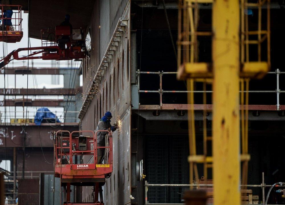 Cудостроительный завод фирмы STX Europe в городе Сен-Назер