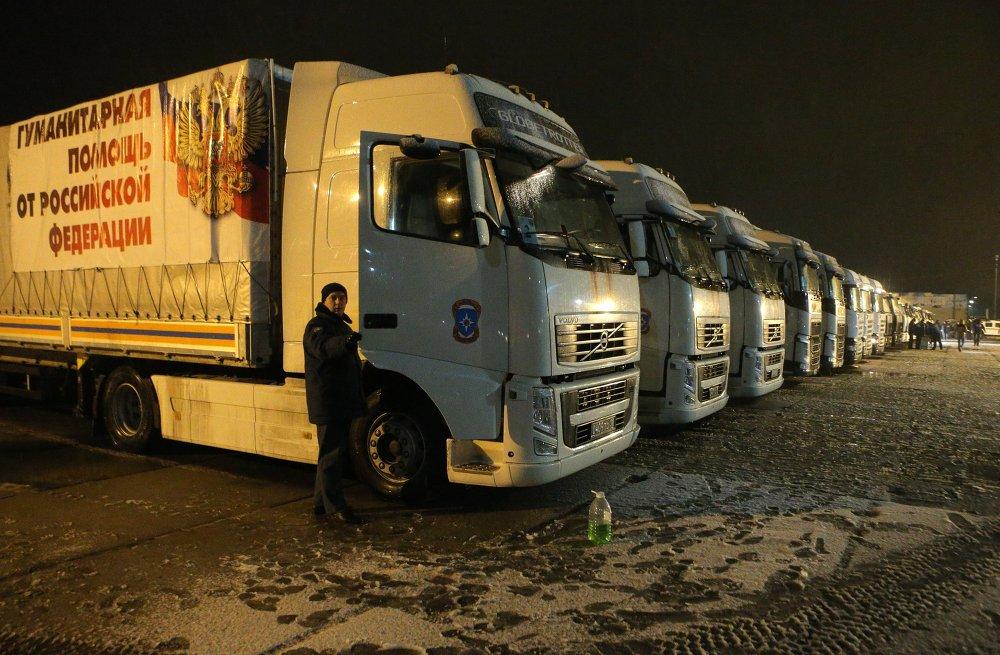 Rusia envía un convoy humanitario con regalos para los niños de Donbás