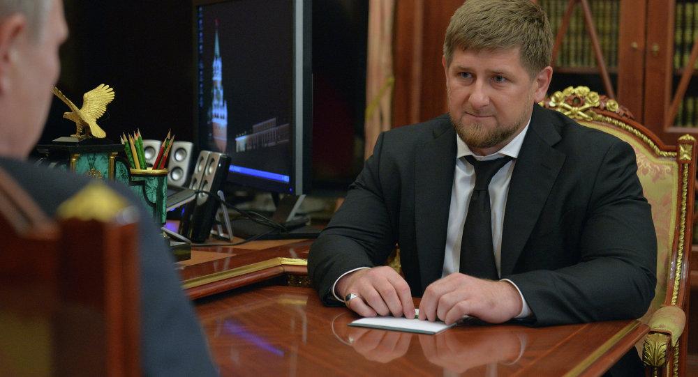 Presidente de Rusia, Vladímir Putin y líder de la República Chechena, Ramzán Kadírov