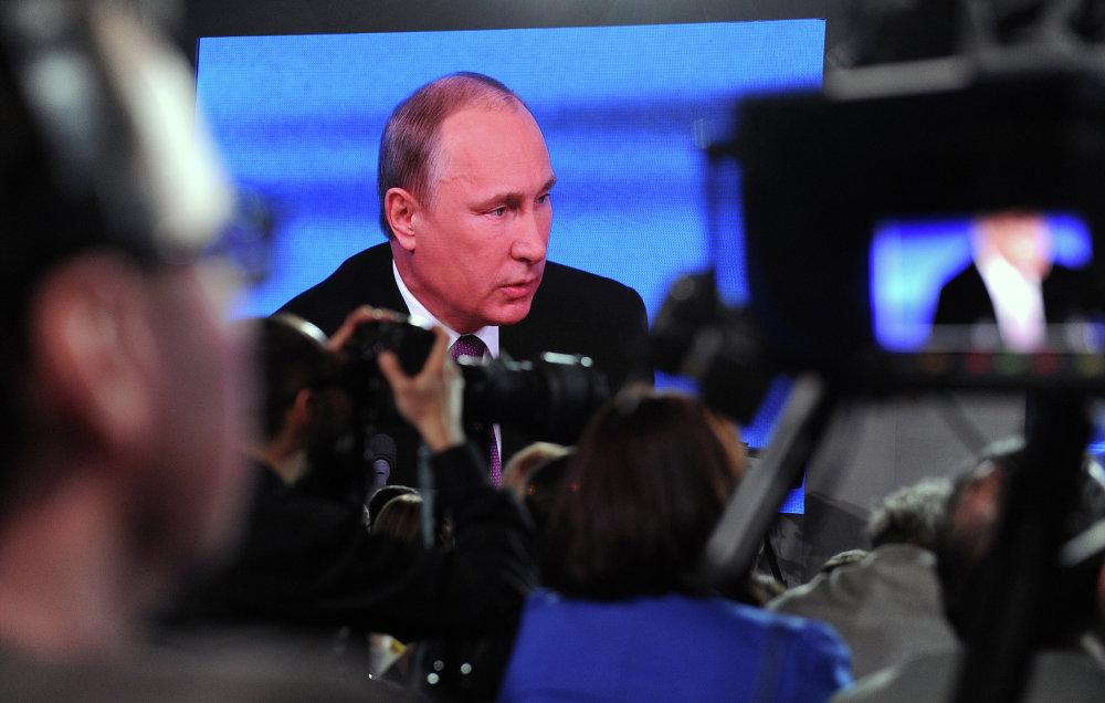 Décima gran rueda de prensa del presidente ruso Vladímir Putin