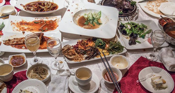 Остатки китайской еды
