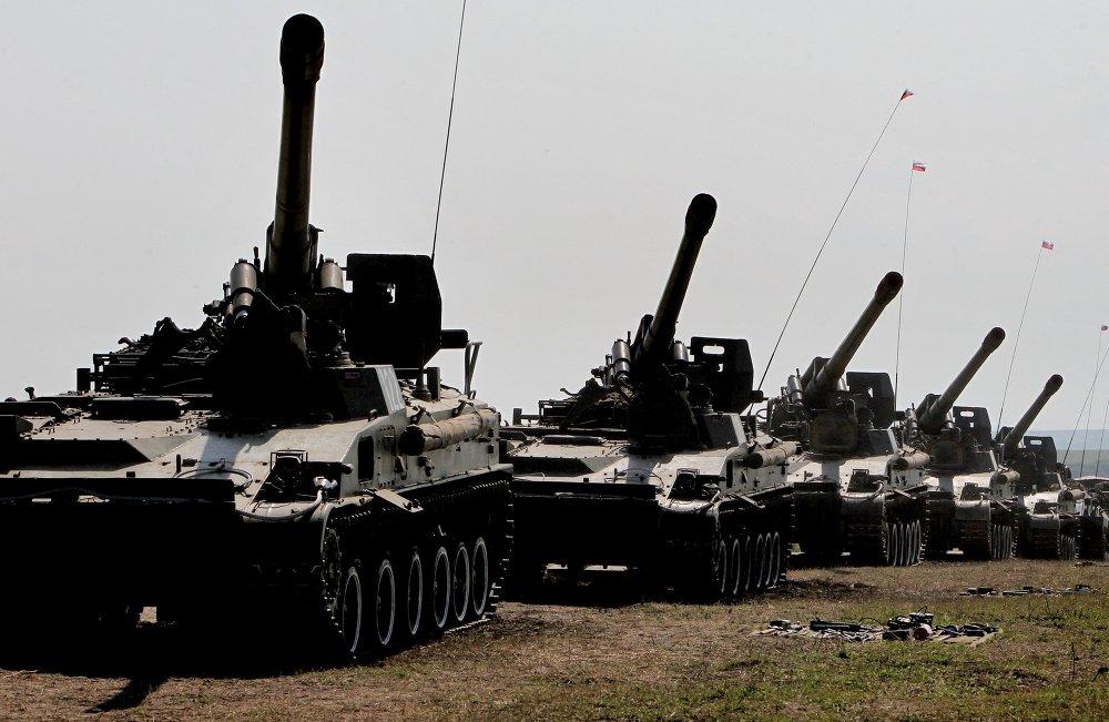Состязания самоходных артиллерийских батарей Сухопутных войск РФ