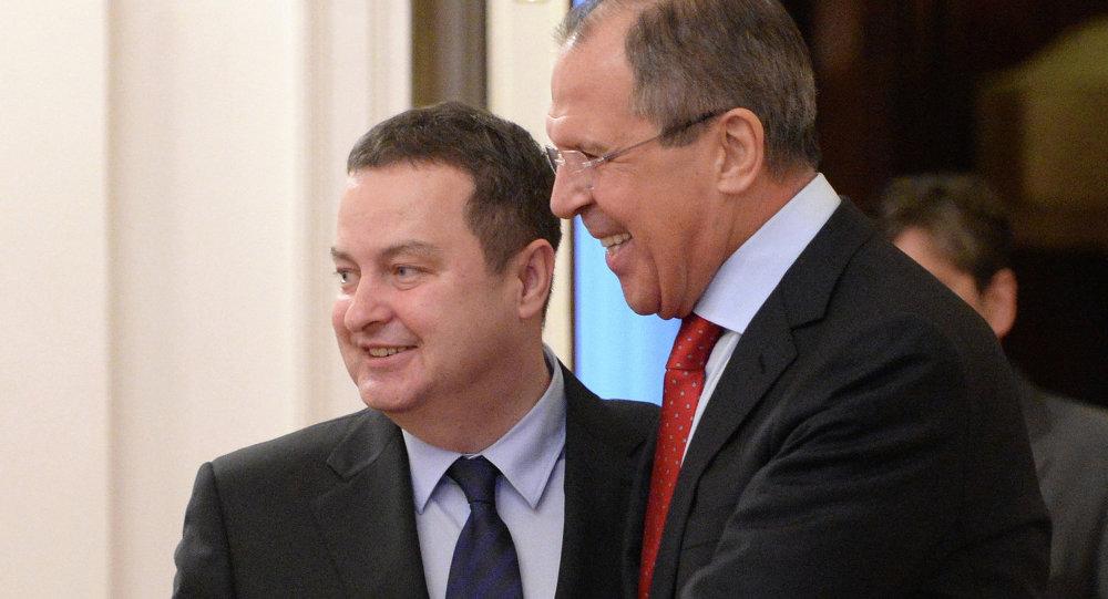 Встреча С.Лаврова с И.Дачичем в Москве