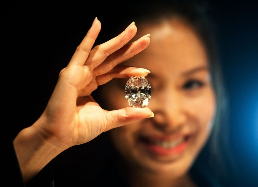 Крупнейший в мире бриллиант весом 118,28 карата на торгах аукционного дома Sotheby's