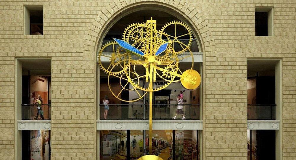 Часы в Центральном Детском Магазине на Лубянке