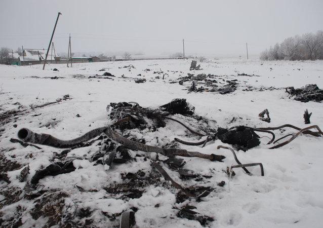 Los restos del Boeing malasio derribado en el este de Ucrania