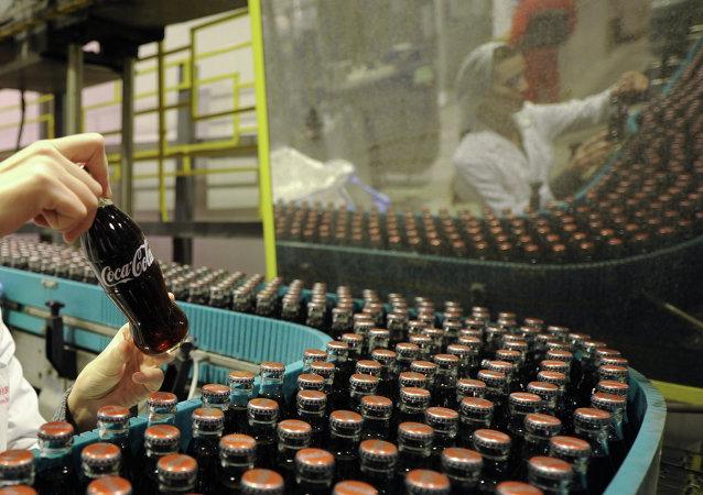 Una fábrica de Coca-Cola
