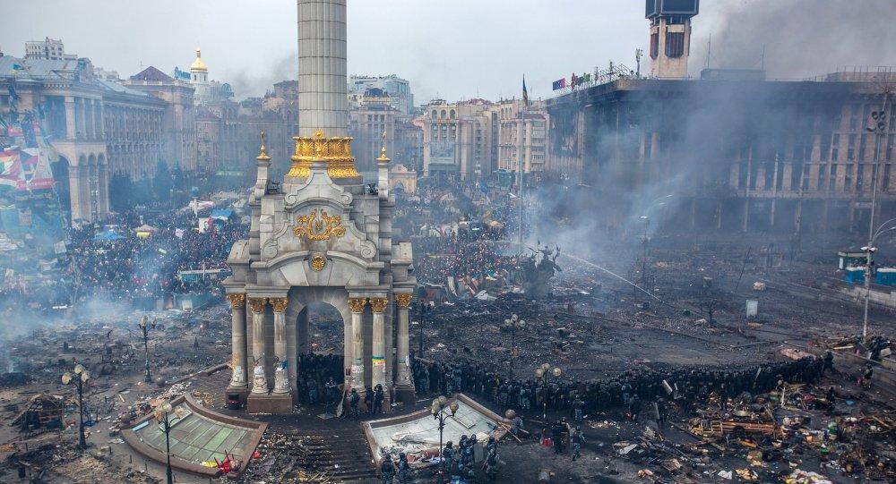 Plaza de la Independencia (Kiev), 19 febrero, 2014