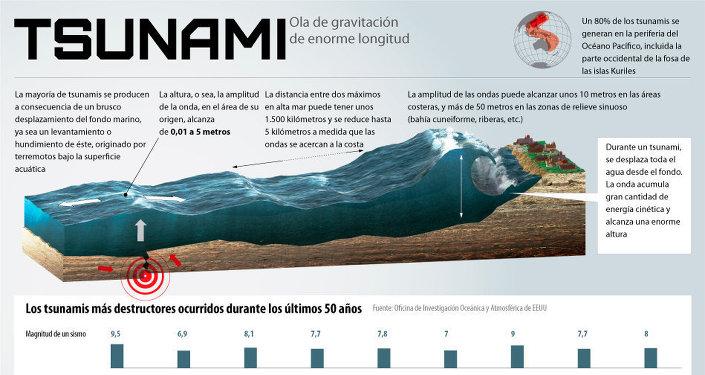 Tsunami. Infografía