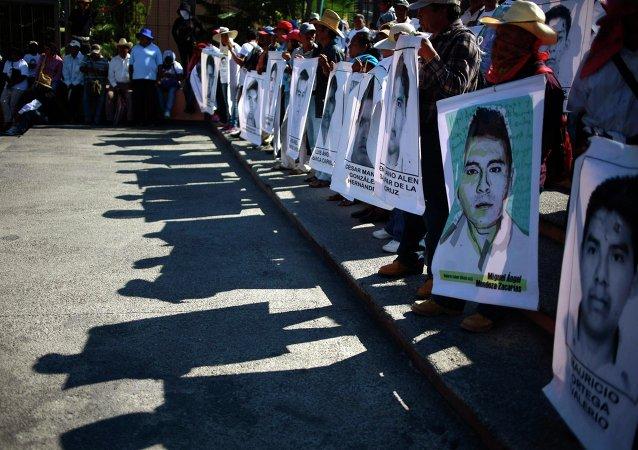 Imágenes de los desaparecidos de Ayotzinapa
