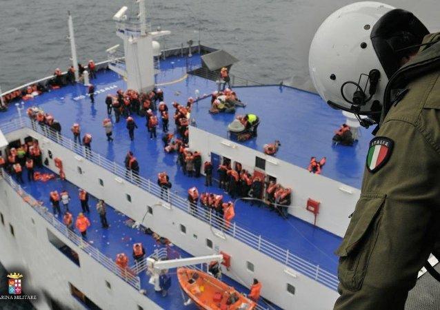 Эвакуация с парома Norman Atlantic