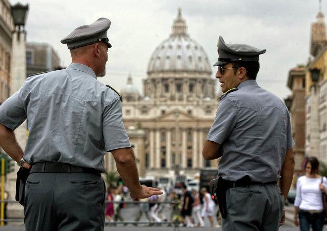 Policías de Italia (archivo)