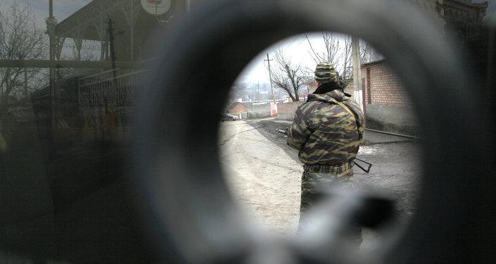 Fuerzas de seguridad rusas en Ingusetia (archivo)