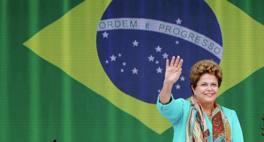 Dilma Rousseff, presidente de Brasil