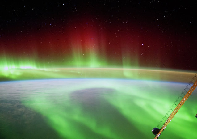 ESA astronaut Alexander Gerst took this image of an aurora as he circled Earth on the International Space Station
