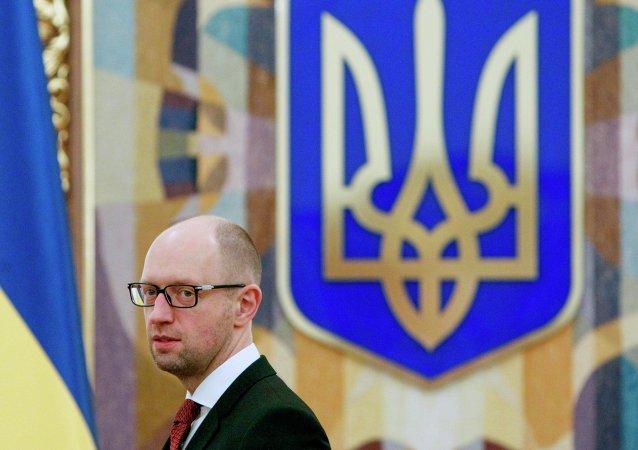 Der ukrainische Regierungschef Arseni Jazenjuk