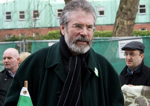 Gerry Adams, presidente de Sinn Fein