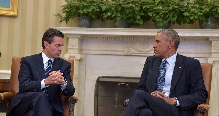 Президент Мексики Энрике Пенья встретился с президентом США Бараком Обамой в Белом Доме