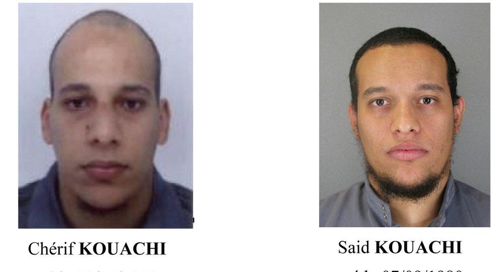 Подозреваемые в совершении теракта в Париже Саид и Шериф Куаши