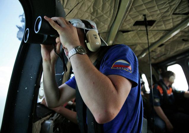 Operación de búsqueda en la zona de la catástrofe del avión Airbus en el mar de Java