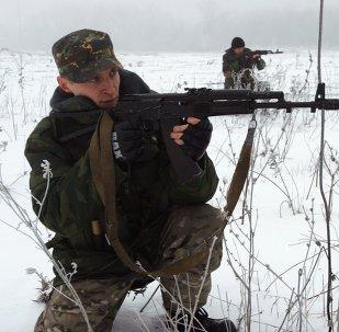 Milicianos prorrusos del este de Ucrania