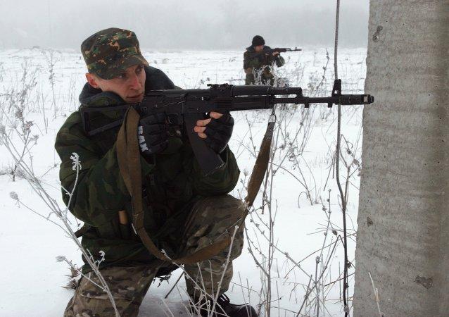 Milicias independentistas de Donbás