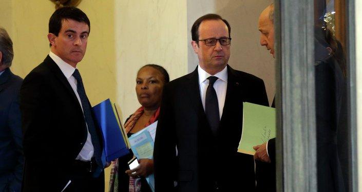 Primer ministro de Francia, Manuel Valls y presidente François Hollande