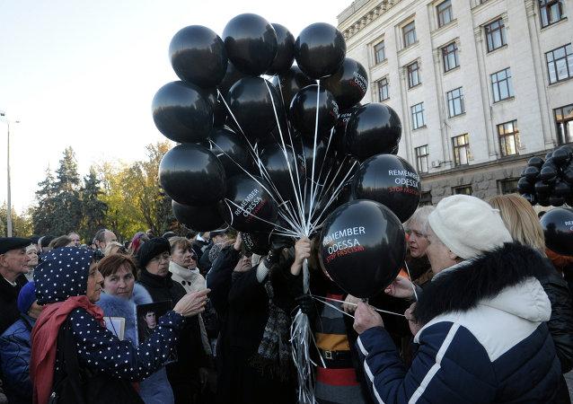 Homenaje a las víctimas de la tragedia de Odesa