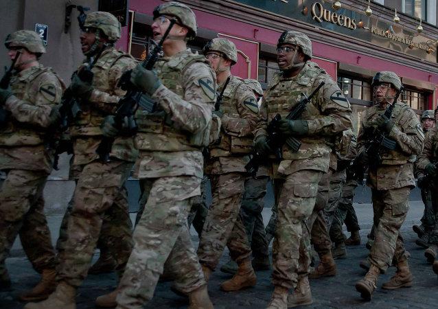 Militares de la OTAN en Riga (Archivo)
