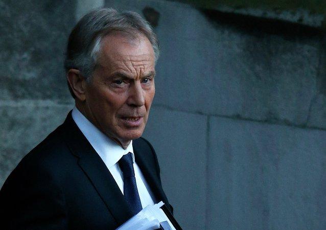 Tony Blair, exprimer ministro de Reino Unido