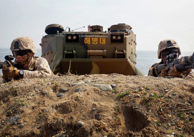Ejercicios militares conjuntos entre EEUU y Corea del Sur