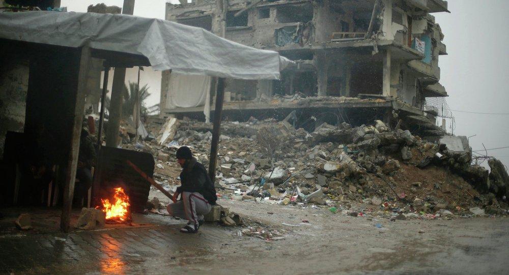 Дома, разрушенные в Секторе Газа во время последнего конфликта между Израилем и группировкой ХАМАС. 16 ноября 2014 года