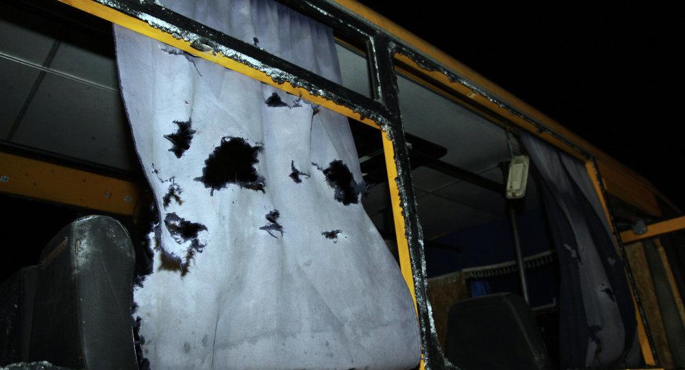 La OSCE dice que el misil que causó 12 muertos en Donetsk cayó a 15 metros del autobús