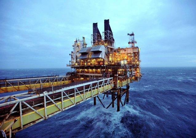 Extracción de petróleo en el Mar del Norte