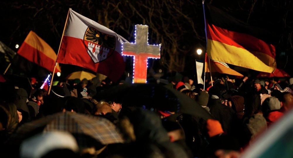 Manifestación organizada por el movimiento islamófobo Pegida. Alemania (Archivo)