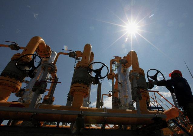 Un gasoducto en Rusia