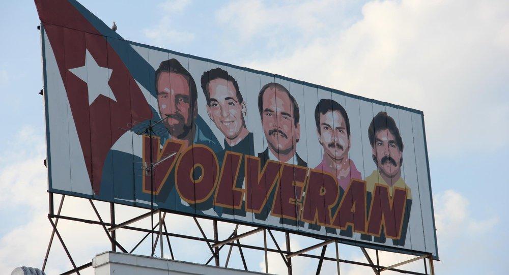 Пять кубинских агентов, содержащихся в тюрьме в США. Херардо Эрнандес, Рамон Лабаньино, Рене Гонсалес, Антонио Герреро и Фернандо Гонсалес