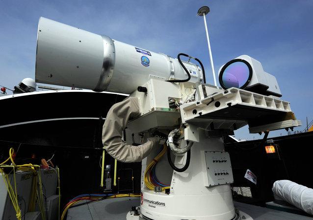 Primer sistema láser de uso militar, desarrollado por la Armada de EEUU