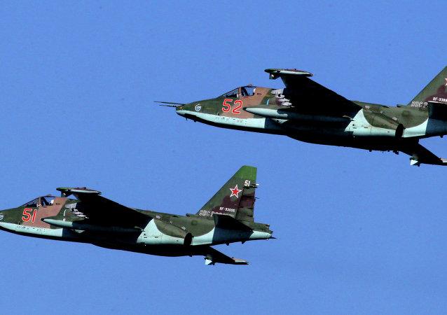 Aviones Su-25 'Grach'