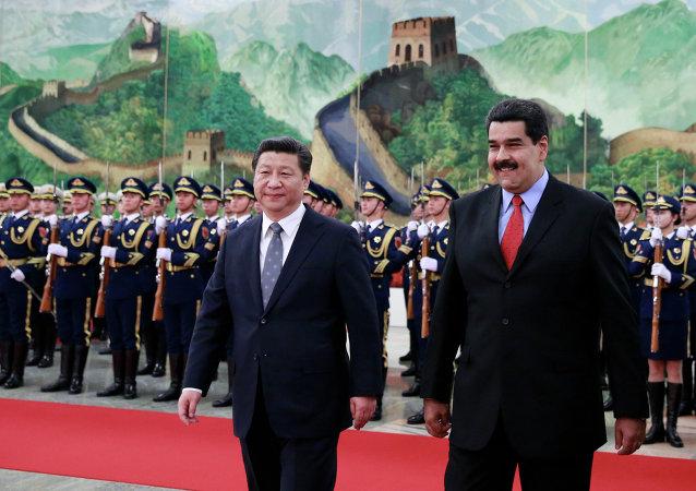 Presidente de China, Xi Jinping y presidente de Venezuela, Nicolás Maduro