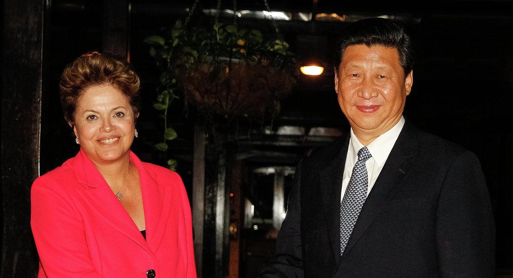 Presidenta de la República de Brasil, Dilma Rousseff y presidente chino, Xi Jinping