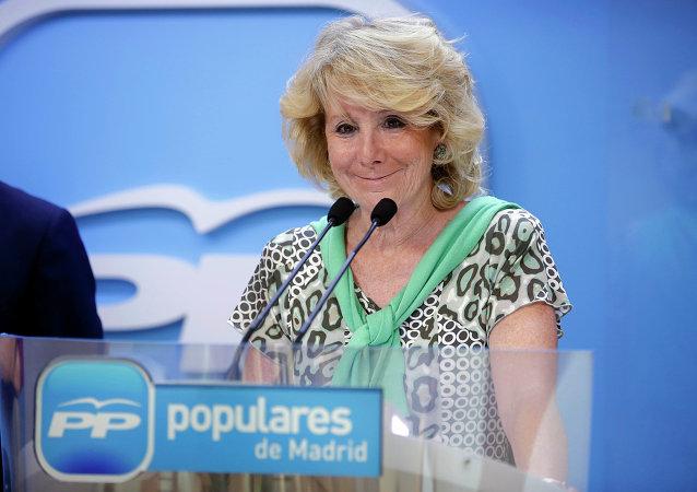 Esperanza Aguirre, presidenta del Partido Popular (PP)