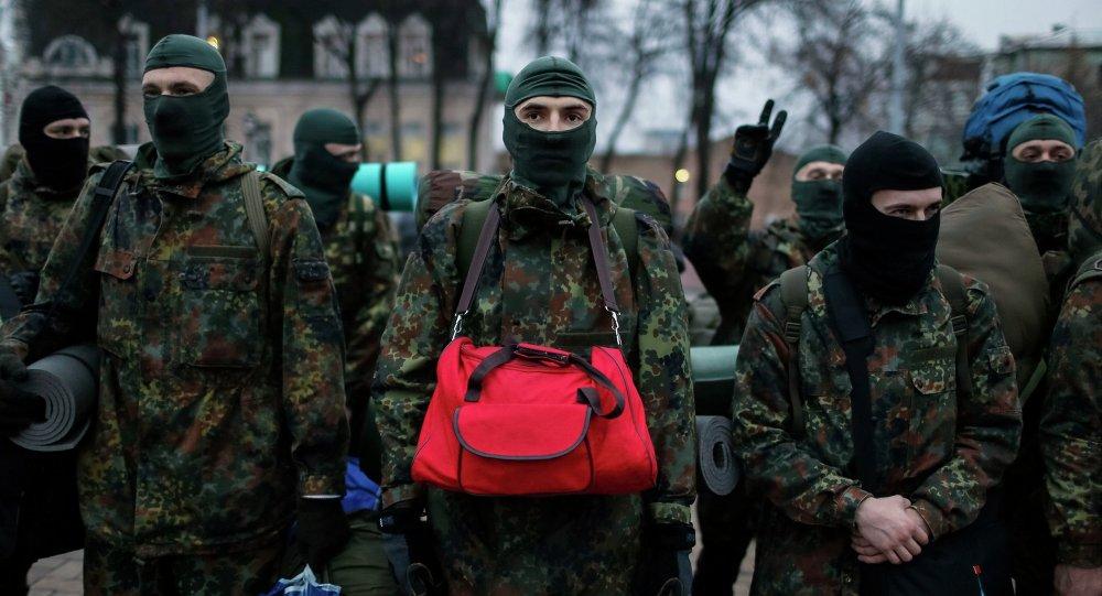 Integrantes de los batallones voluntarios en Ucrania (imagen referencial)